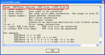PDF to DOC Command Line Converter—Convert PDF to DOC by