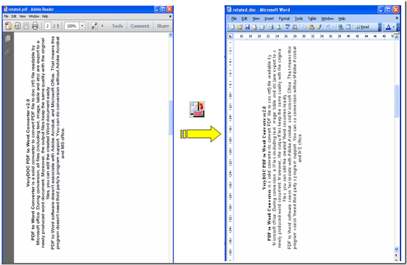 Will your PDF to Word convert rotated texts from PDF files