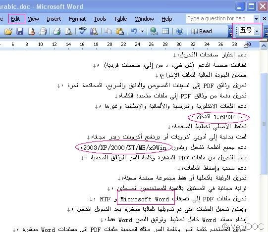 CONVERT PDF TO WORD ARABIC PDF