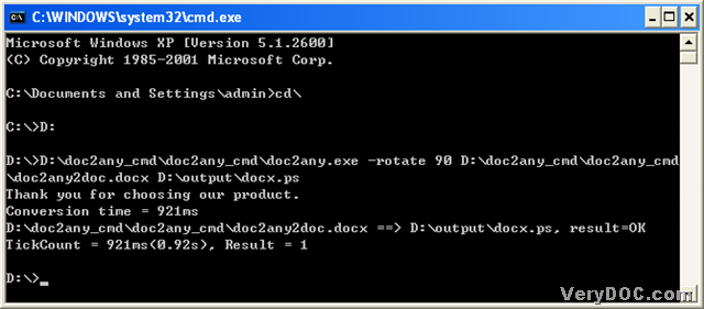 docx to pdf converter command line