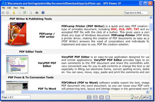 example xps file