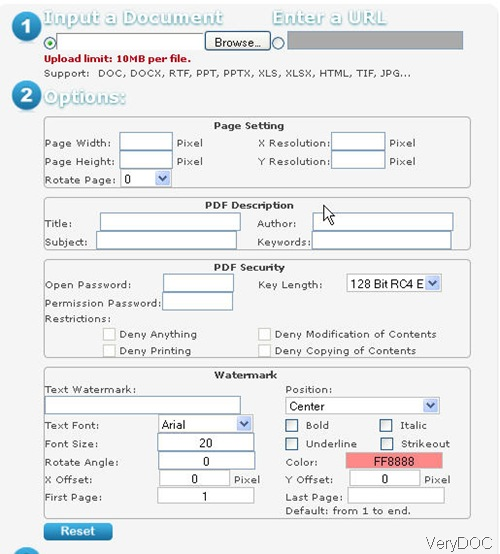 Free online Office to PDF Converter snapshot