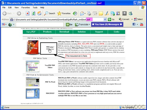PDF to Flash conversion effect