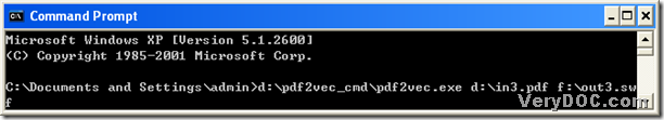 command prompt example containing command line