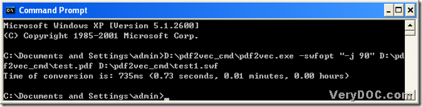 command prompt containing correct process from PDF to flash