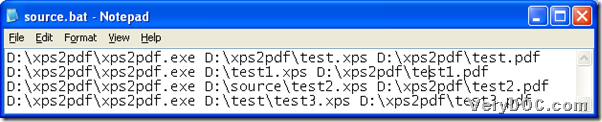 Convert XPS to PDF with command line through BAT file