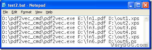 BAT file containing command line for producing XPS and PS in batches