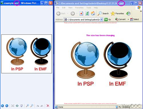 Source EMF file and output flash file