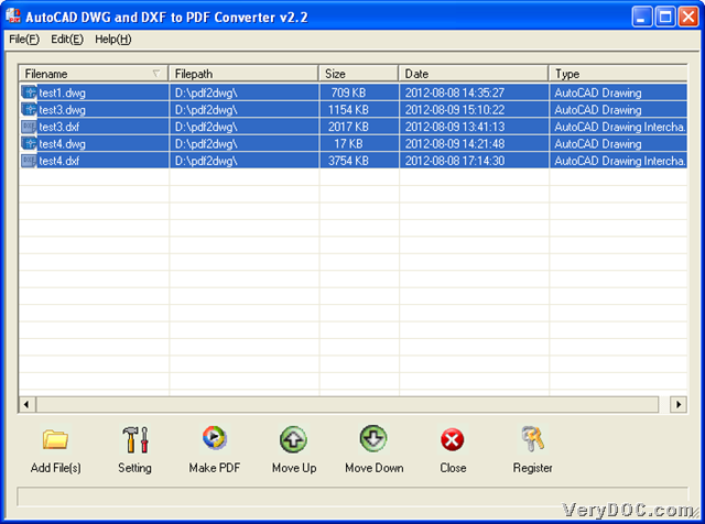 How to convert DXF/DWT/DWF/DWG to PDF and encrypt PDF