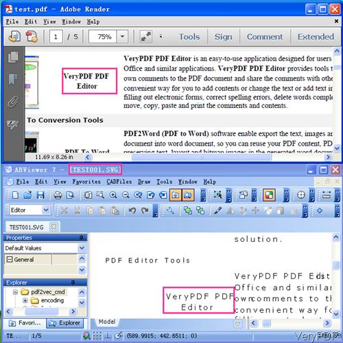 input PDF and output SVG
