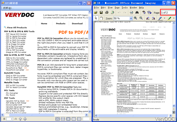 input PDF and output tiff