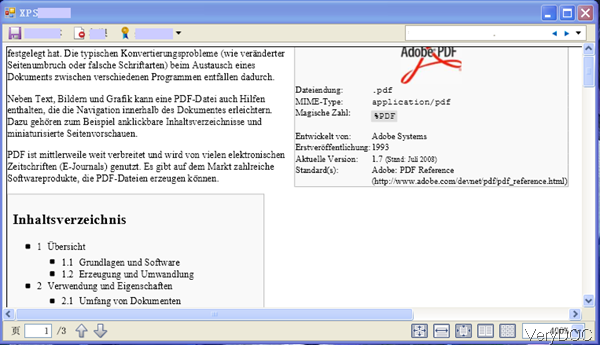 output XPS file in Germany
