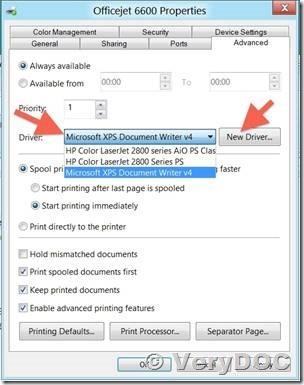 Intercepting data sent to a Windows printer VeryDOC