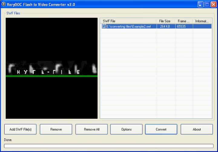SWF to ASF Converter
