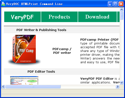 HTML Print to PDF Command Line Screenshot