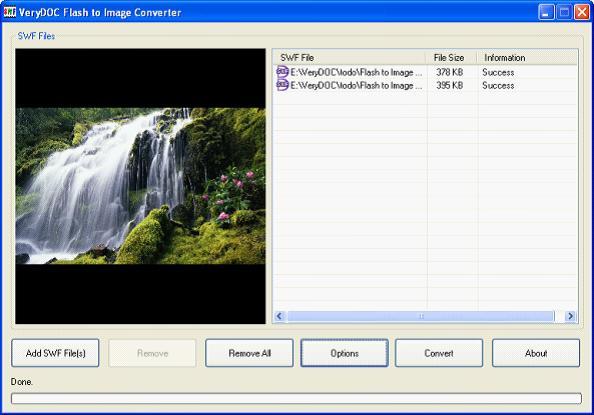 VeryDOC Flash to Png Converter full screenshot