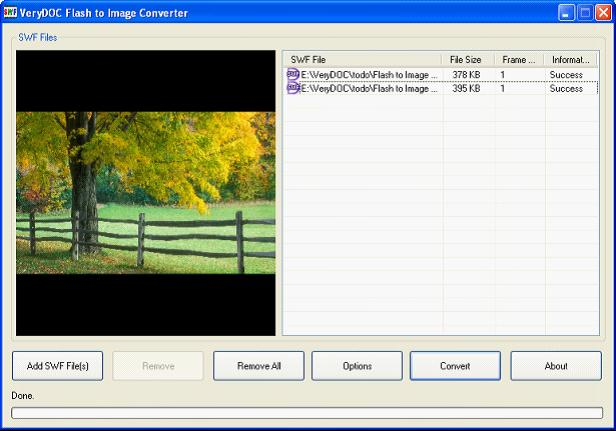 VeryDOC Flash to Psd Converter full screenshot