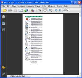 The PDF file before processed by PDF Cropping Tool