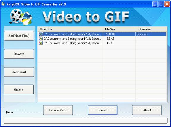 Click to view FLV to Animated GIF Converter screenshots