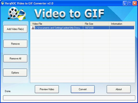 Flv to animated gif converter convert flv to animated gif convert the interface of flv to animated gif converter negle Images